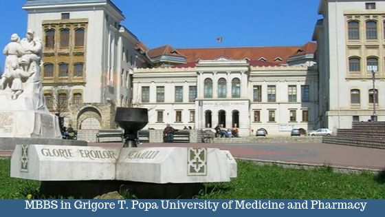 MBBS at Grigore T. Popa University of Medicine and Pharmacy