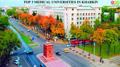Distance to the 3 MCI Approved Medical Universities in Ukraine from Kharkiv City